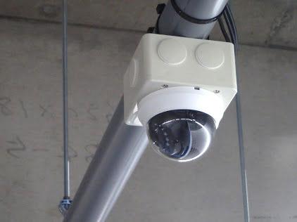 防犯カメラでで24時間監視
