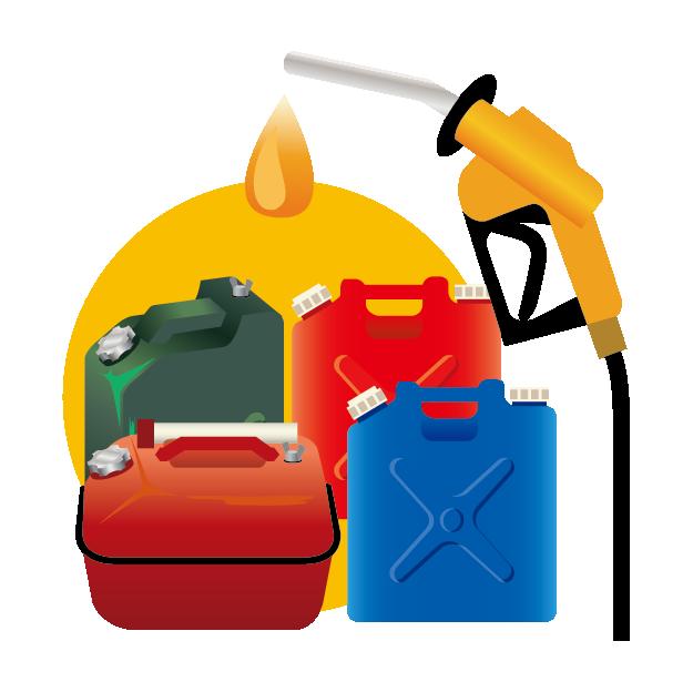 ガソリン、灯油