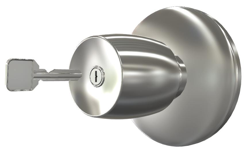ノブ一体型シリンダー錠