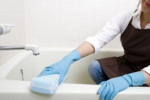 洗剤不要浴室用スポンジでお風呂掃除