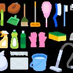たくさんの掃除道具