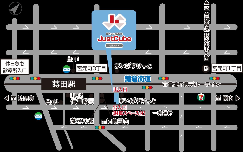 ジャストキューブ南区宮元町_地図